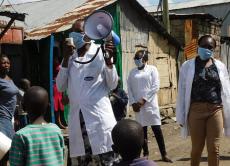 In Kenya, clinical Health care workers are informing the community on COVID-19.