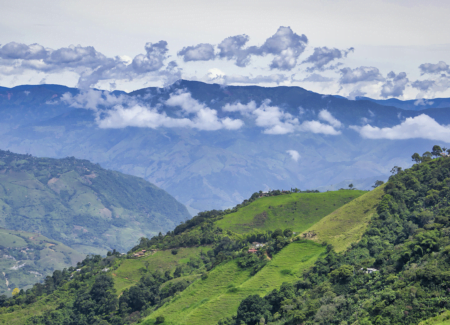 Lush Colombian landscape. In Colombia, groups are working to create behavior change around sustainable farming.
