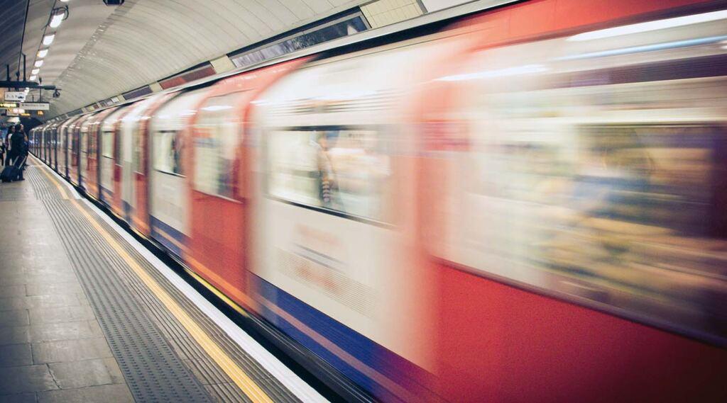 metro rushing by