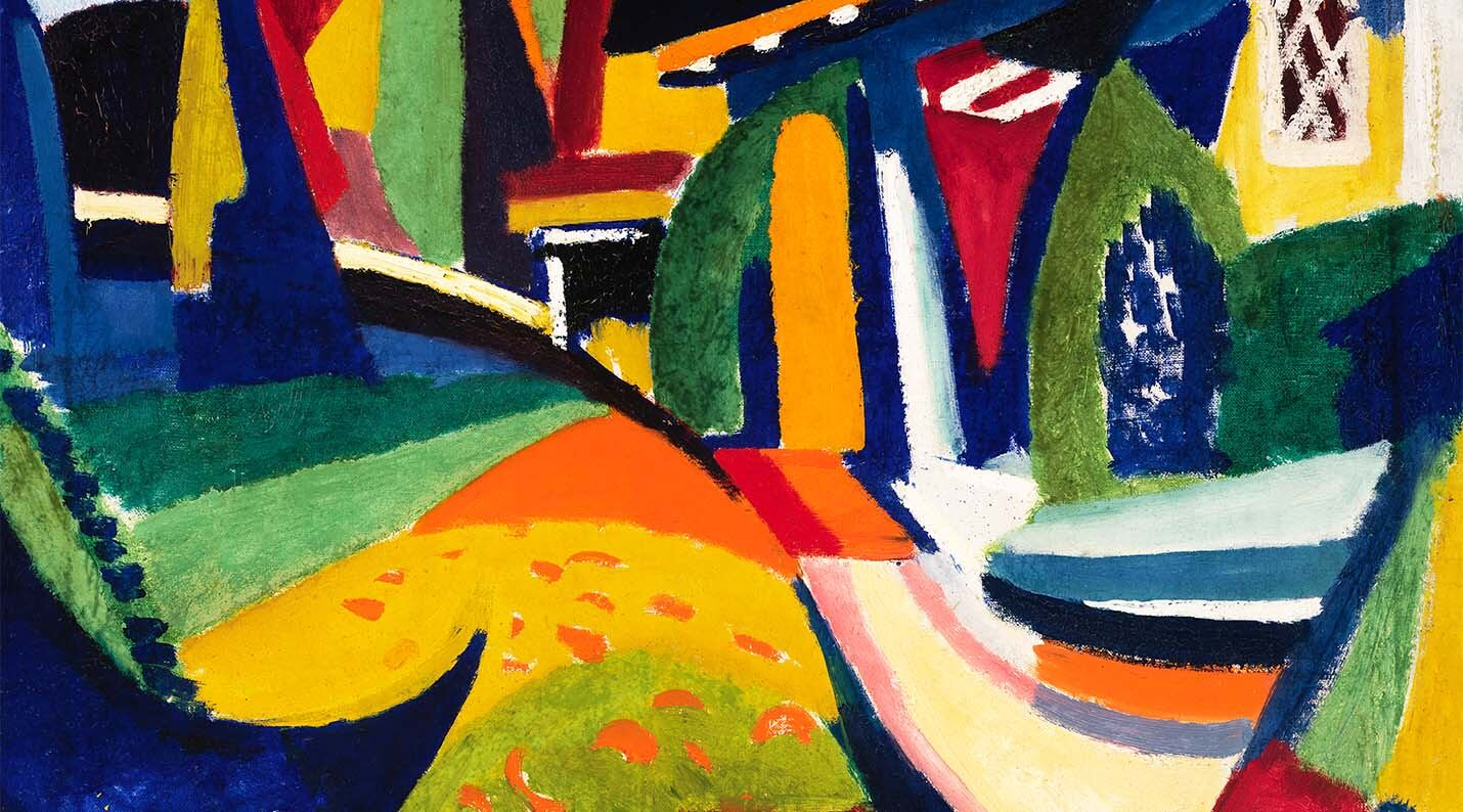 """""""Scheherazade"""" (1915) by H. Lyman Saÿen depicts a vibrant and abstract interpretation of music."""